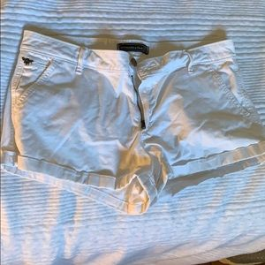 Abercrombie and Fitch white chino shorts